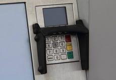 Der Abschluss oben der ATM-Tastatur Stockbilder