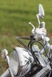 Der Abschluss oben des Motorradrades Stockbilder