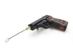 Der Abschluss oben einer Pistole Stockbild