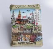 Der Abschluss oben der Kopenhagen-Magnetthermometerandenkens Lizenzfreie Stockfotografie