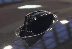 Der Abschluss oben der schwarzen Autodachantenne Lizenzfreies Stockbild