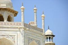 Der Abschluss oben von Taj Mahal, Indien Lizenzfreie Stockfotos