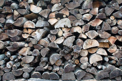 Der Abschnitt der Brennholzklotz Lizenzfreie Stockbilder