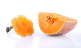 Der Abschnitt der reifen Kürbisfrucht Lizenzfreie Stockfotografie