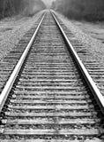 Der Abstand des Gleiss Stockbild