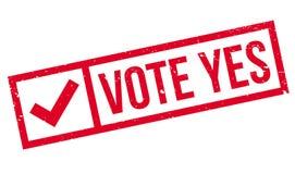 Der Abstimmung Stempel ja lizenzfreie abbildung