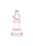 Der abstrakte Bischof des Schachs Stockbilder