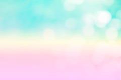Der abstrakte blaue Wellenhintergrund auf bokeh Art Lizenzfreies Stockfoto
