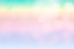 Der abstrakte blaue Wellenhintergrund auf bokeh Art Lizenzfreie Stockbilder
