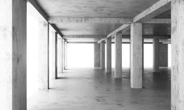 Der abstrakte Boden eines modernen Gebäudes im Bau Stockbild