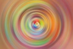 Der abstrakte bunte Hintergrund Drehbeschleunigungs-Kreis-Radialbewegungs-Querstation Stockbild