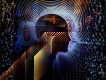 Metaphorische menschliche Technologie Lizenzfreie Stockfotos