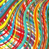 Der abstrakte gekurvte Regenbogen streift Farbhintergrund Lizenzfreies Stockbild