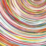 Der abstrakte gekurvte Regenbogen streift Farbhintergrund Stockfotos