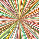 Der abstrakte gekurvte Regenbogen streift Farbhintergrund Stockbild