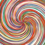 Der abstrakte gekurvte Regenbogen streift Farbhintergrund Lizenzfreie Stockfotografie