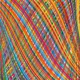 Der abstrakte gekurvte Regenbogen streift Farbhintergrund Lizenzfreie Stockfotos