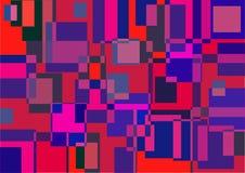 Der abstrakte geometrische Hintergrund von farbigen Quadraten Lizenzfreie Stockbilder
