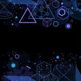Der abstrakte Hintergrund der Wissenschaft und der Mathematik Lizenzfreies Stockbild