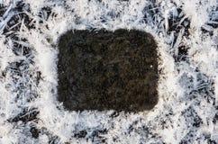 Der abstrakte Hintergrund des Eises, des Schnees und des Reifs Lizenzfreies Stockbild