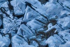 der abstrakte Hintergrund der Eis gefrorenen Struktur Nahtlose Beschaffenheit Lizenzfreie Stockbilder