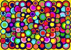 Der abstrakte Hintergrund von farbigen Kreisen Stockfotos