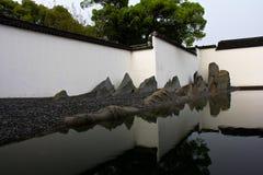 Der abstrakte Rockery von Suzhou-Museum Lizenzfreies Stockbild