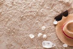 Der abstrakte sandige tropische Strand Stockfotografie