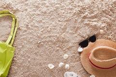 Der abstrakte sandige tropische Strand Stockfoto