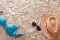Der abstrakte sandige tropische Strand Stockfotos