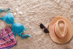 Der abstrakte sandige tropische Strand Lizenzfreie Stockbilder