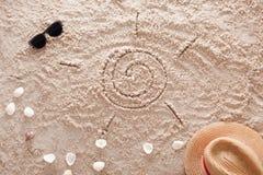 Der abstrakte sandige tropische Strand Lizenzfreies Stockfoto