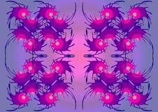 Der abstrakte surreale Hintergrund mit purpurroten Tönen lizenzfreie abbildung