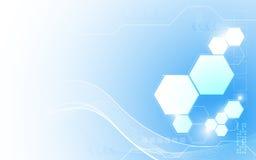 Der abstrakten sauberer Designhintergrund Technologieinnovation des Vektors Lizenzfreies Stockbild