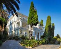 Der Achilleion Palast in Korfu, Griechenland Stockfotografie