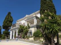 der Achilleions-Palast auf der Insel von Korfu Griechenland errichtet von der Kaiserin Elizabeth von Österreich Sissi Stockbild