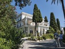 der Achilleions-Palast auf der Insel von Korfu Griechenland errichtet von der Kaiserin Elizabeth von Österreich Sissi Stockbilder