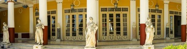 der Achilleions-Palast auf der Insel von Korfu Griechenland errichtet von der Kaiserin Elizabeth von Österreich Sissi Lizenzfreie Stockbilder