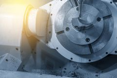 Der 5 Achse CNC-Maschinenausschnitt das Formteil Stockbilder