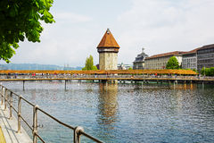 Der achteckige hohe Turm, Luzerne Stockbilder
