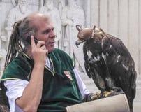 Der Adler und der Meister in Fischer ` s Fort, Budapest, Ungarn Lizenzfreie Stockfotografie
