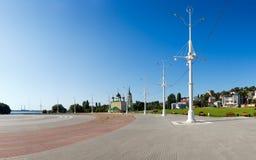Der Admiralitäts-Bereich in der Stadt von Voronezh Stockfotografie