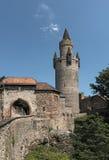 Der Adolf-Turm an Friedberg-Schloss, Hessen, Deutschland Lizenzfreies Stockbild