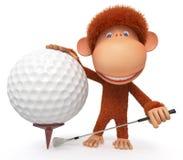 Der Affe spielt Golf Stockfotos