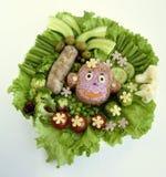 Der Affe wird vom Reis gemacht Lizenzfreie Stockfotos