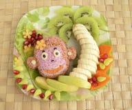 Der Affe wird vom Reis gemacht Lizenzfreie Stockfotografie