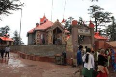 Der Affegotttempel von Shimla Lizenzfreie Stockfotos