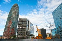 Der Agbar Kontrollturm, Barcelona, Spanien. Stockbild