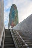 Der Agbar Kontrollturm, Barcelona, Spanien. Stockfotos