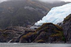 Der Aguila-Gletscher im südlichen Patagonia Lizenzfreie Stockbilder